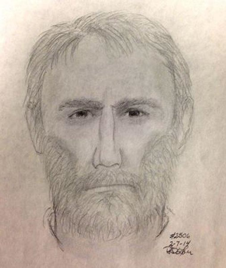 Image: composite image of a suspect who shot two women