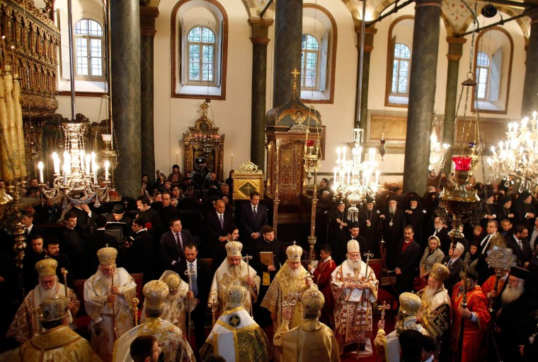Image: Heads of Orthodox churches, led by Ecumenical Patriarch Bartholomew I, attend a special Sunday mass after the Synaxis in Istanbul
