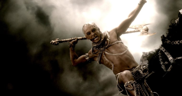 "Rodrigo Santoro as Xerxes in ""300: Rise of an Empire,"" which opened at No. 1 at the box office."