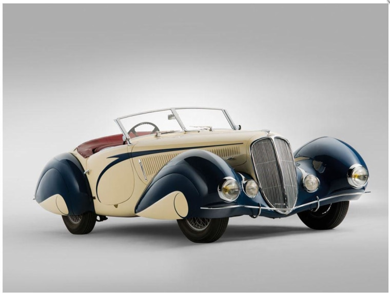 A 1939 Delahaye roadster sold for $6.6 million at auction.