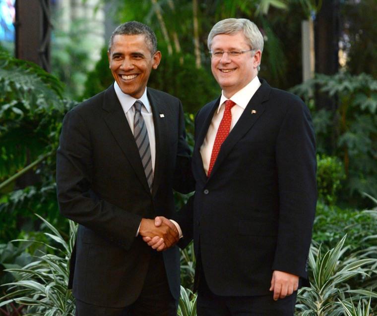 Image: Stephen Harper,  Barack Obama