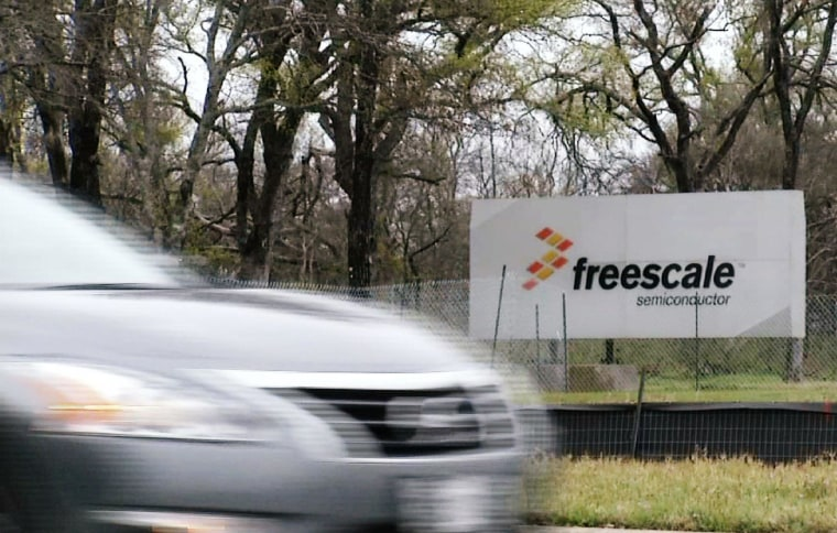 Image: A sign for Freescale Semiconductor is seen in Austin, Texas.