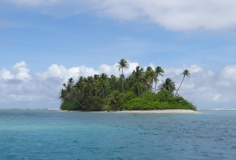 Image: Jose Salvador Alvarenga first came ashore on this islet, part of the Marshall Islands.