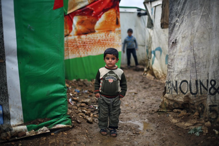 Image: Gamal, 5, a Syrian refugee
