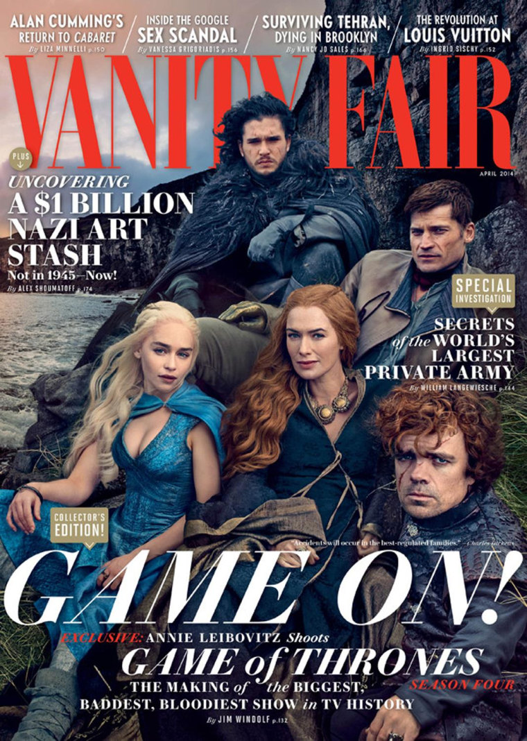 "Image: ""Game of Thrones"" cast on Vanity Fair cover"