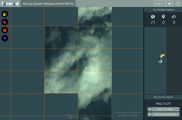 A picture of the Tomnod map as it looks when working.