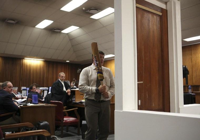 Image: Pistorius trial.