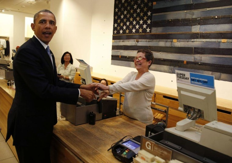 Obama meets GAP cashier