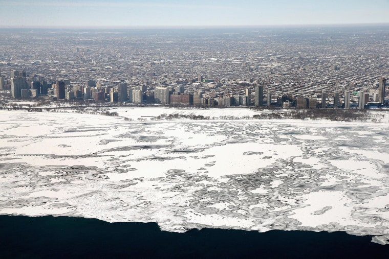 Image: As Brutally Cold Winter Drags On, 80 Percent Of Lake Michigan Frozen