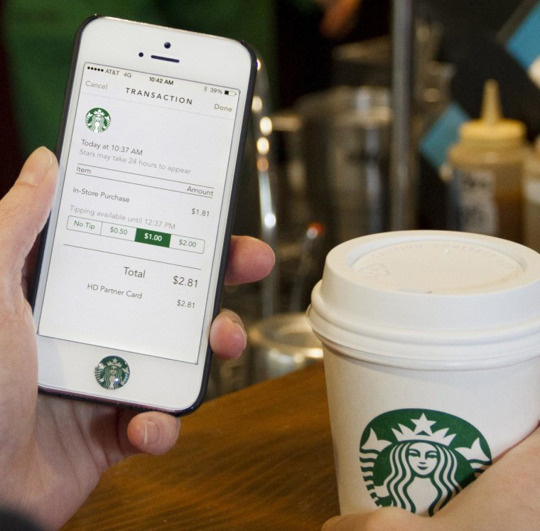 Starbucks mobile tipping