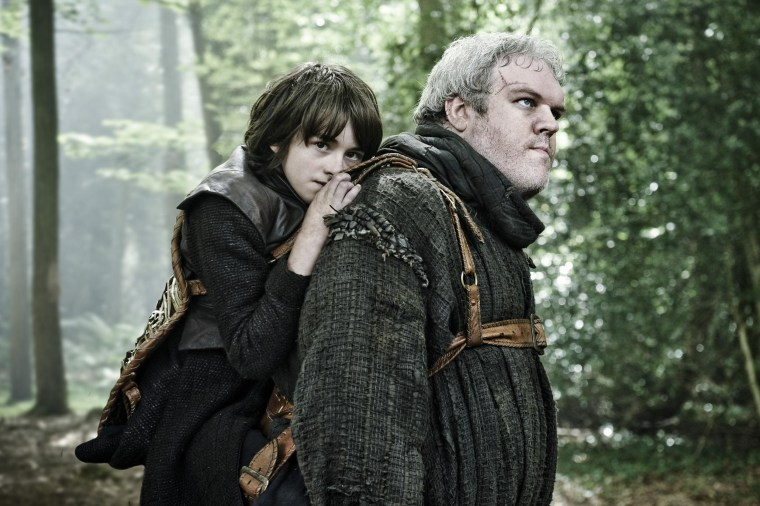 Bran Stark and Kristian Nairn in Game of Thrones.