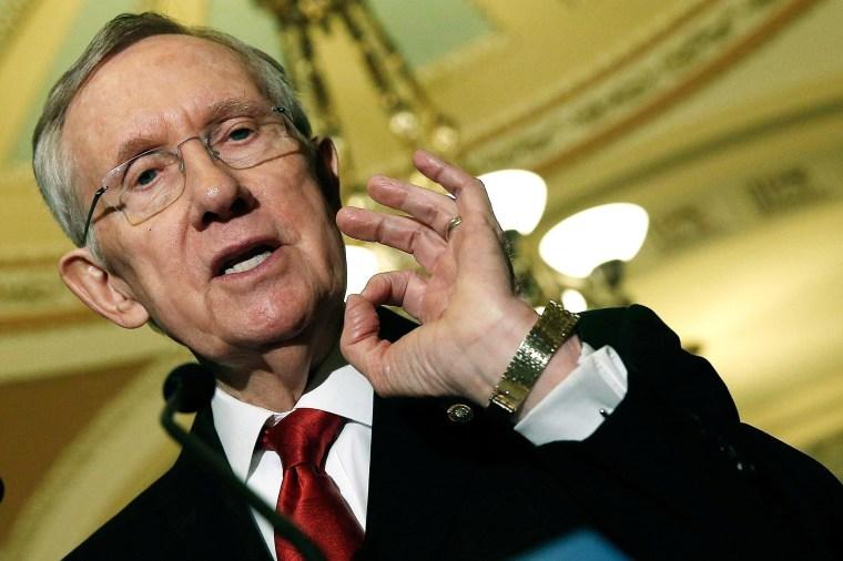 Image:  Senate Majority Leader Harry Reid