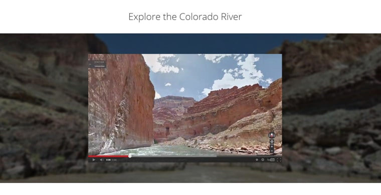 Image: the Colorado River through the Grand Canyon