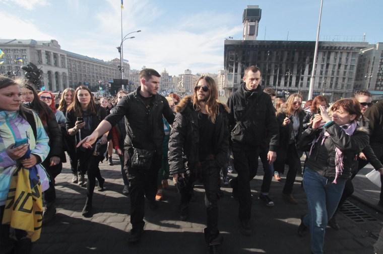 Image: Jared Leto on Independence Square in Kiev