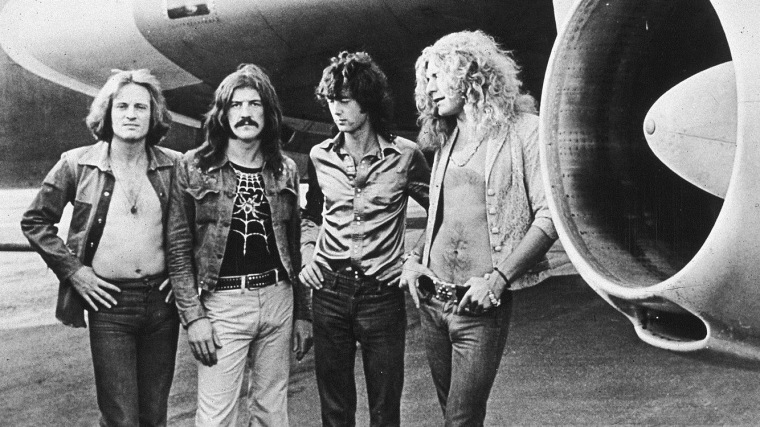 Image: Led Zeppelin with jet