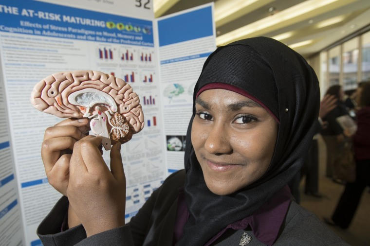 Brookings High School senior Zarin Rahman, 17, won $25,000 at the Intel Science Talent Search this week for her work on how computer and phone use are related to sleep quality, alertness and academic performance in kids in middle school and high school.