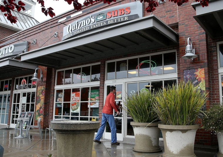 Quiznos sandwich chain filed for bankruptcy protection on Friday.
