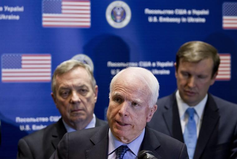 Image: John McCain, Dick Durbin, Chris Murphy