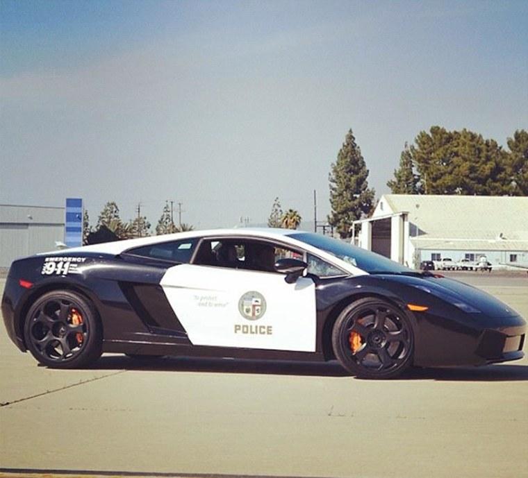Image: The LAPD unveiled its new Lamborghini Gallardo.