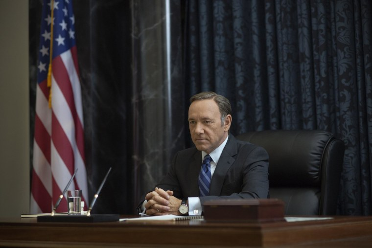 """Kevin Spacey as Frank Underwood in Netflix's """"House of Cards."""""""
