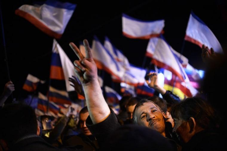 Image: TOPSHOTS-UKRAINE-RUSSIA-UNREST-POLITICS-CRIMEA