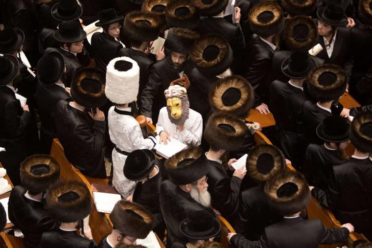 Image: TOPSHOTS-ISRAEL-RELIGION-JUDAISM-PURIM