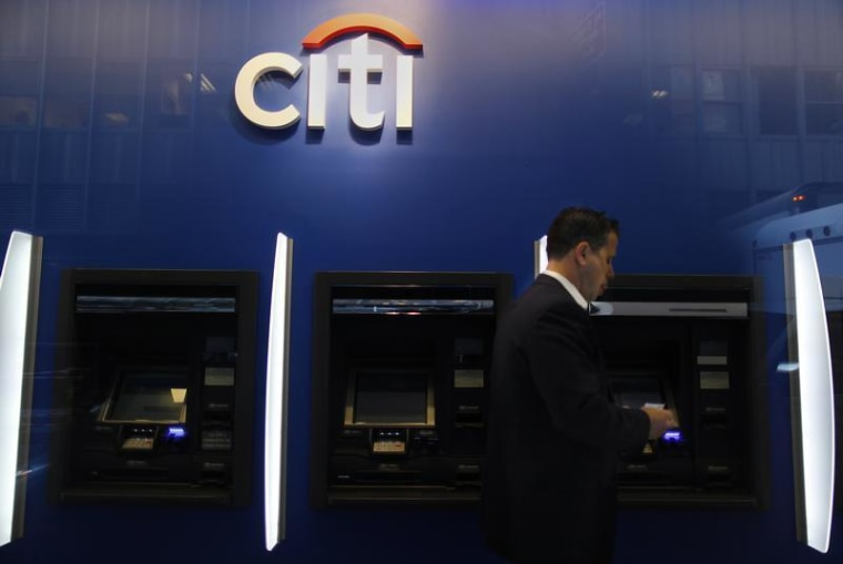 Image: Citibank branch in lower Manhattan