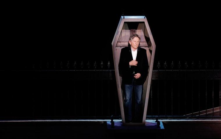 "Image: Roman Polanski takes part in the presentation of the musical \""Le Bal des Vampires\"" (Dance of the Vampires) in Paris"