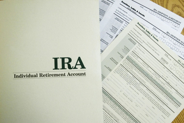 Image: An Individual Retirement Account application form