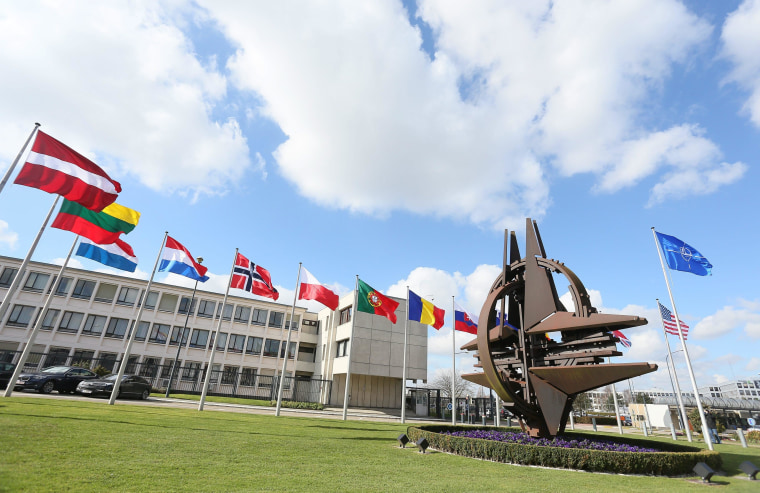 Image: Nato north atlantic council will gather at alliance headquarters  about Ukraine last development