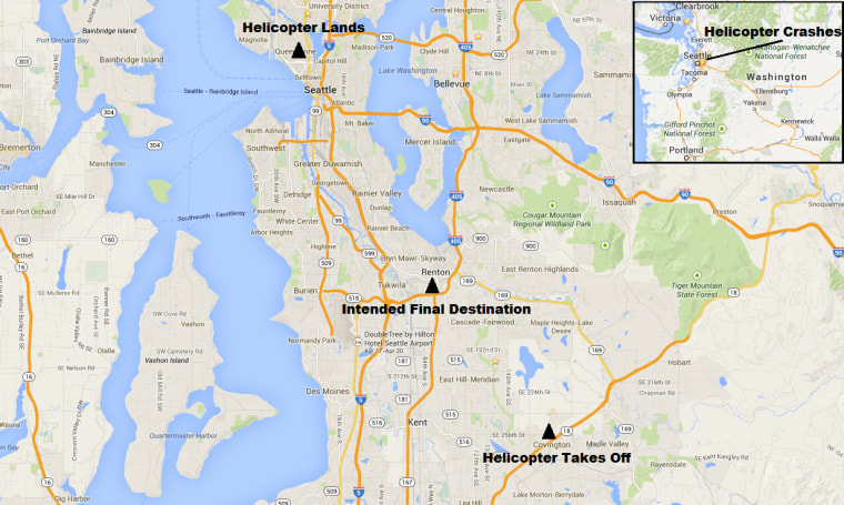IMAGE: Map of Seattle helicopter crash
