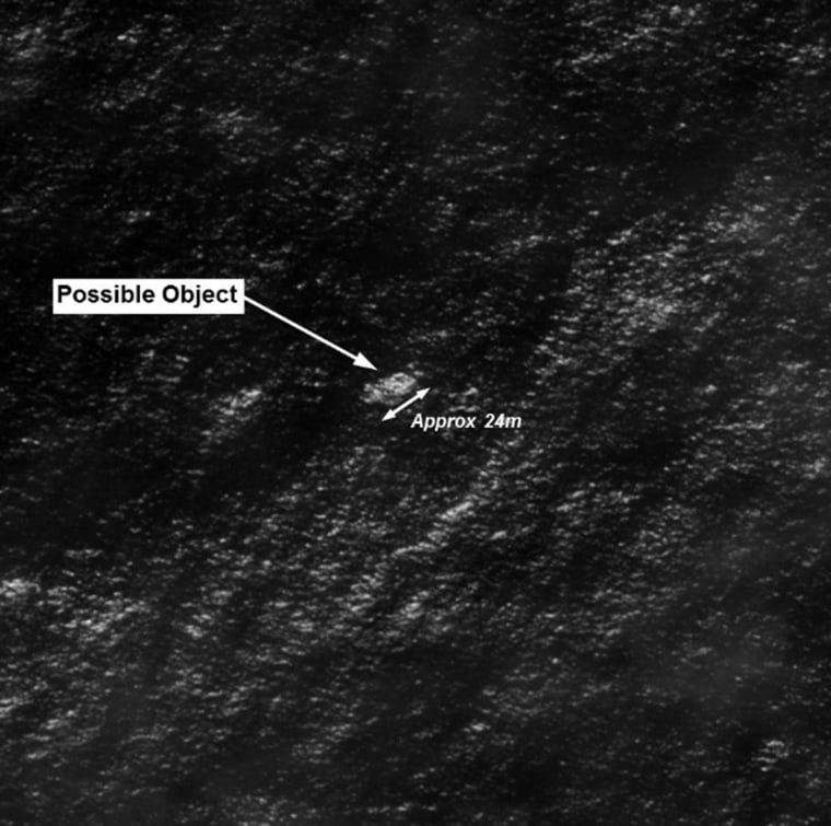Image: Object that might be associated with missing jet