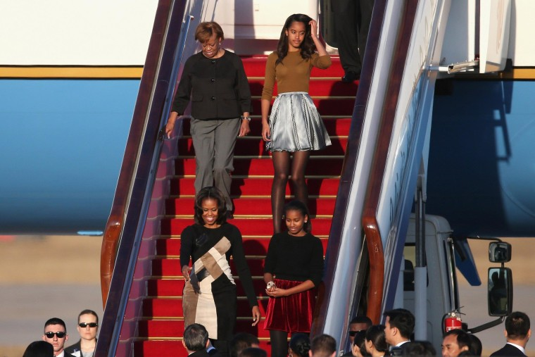 Image: First Lady Michelle Obama Travels to China - Day 1