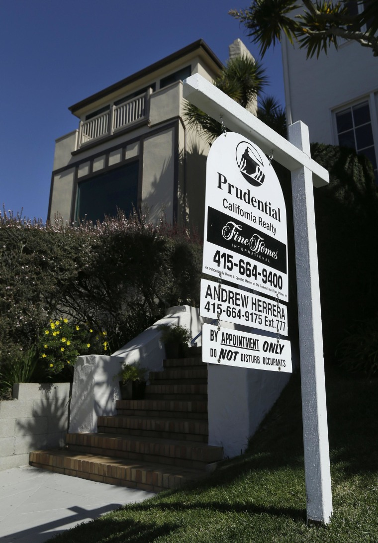 Sales of existing homes fell in February to a 19-month low as cold weather and a shortage of houses for sale sidelined potential buyers.