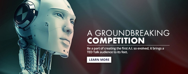Image: the A.I. Xprize presented by TED competition