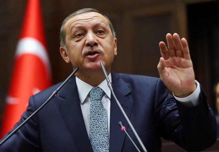 Image: Turkey's Prime Minister Recep Tayyip Erdogan