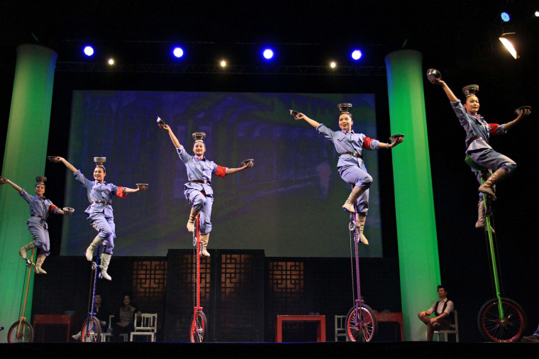 Image: TOPSHOTS-CZECH-LEISURE-CHINESE NATIONAL CIRCUS
