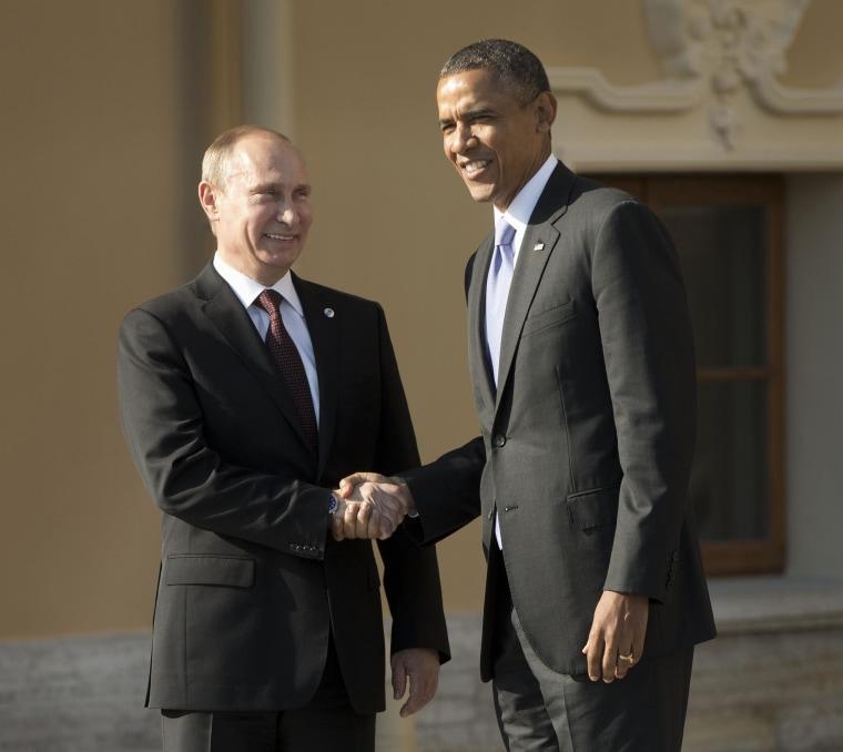 Image: Barack Obama, Vladimir Putin