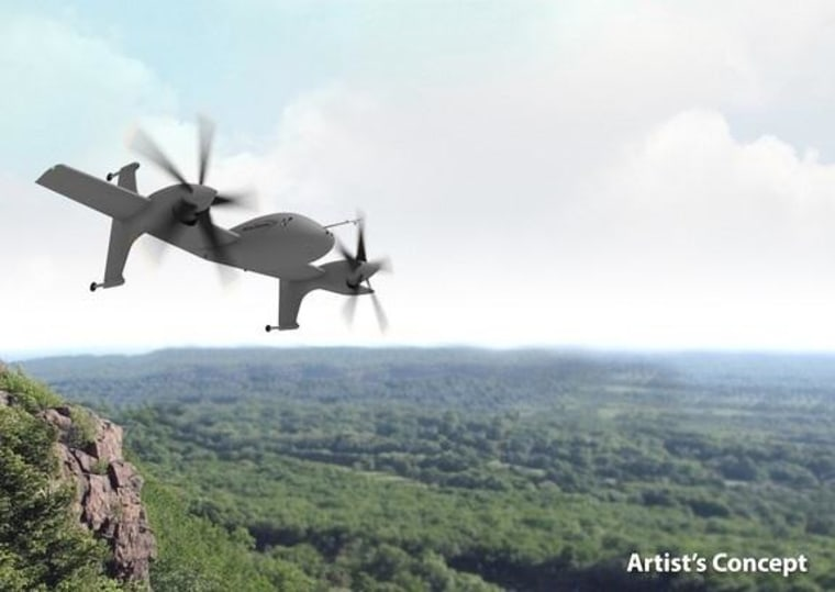 Image: Image: An artist's concept of Sikorsky Aircraft Corporation's vertical takeoff and landing aircraft.