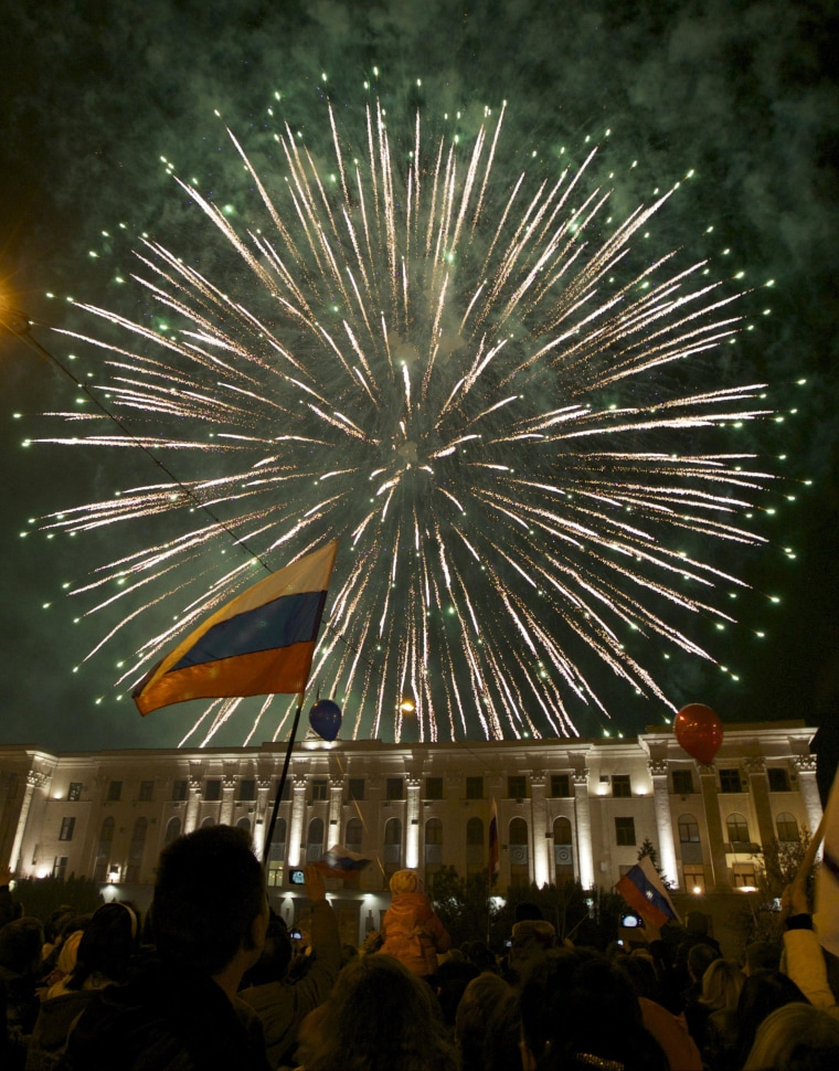 Putin Orders Fireworks in Russia and Crimea to Celebrate Annexation