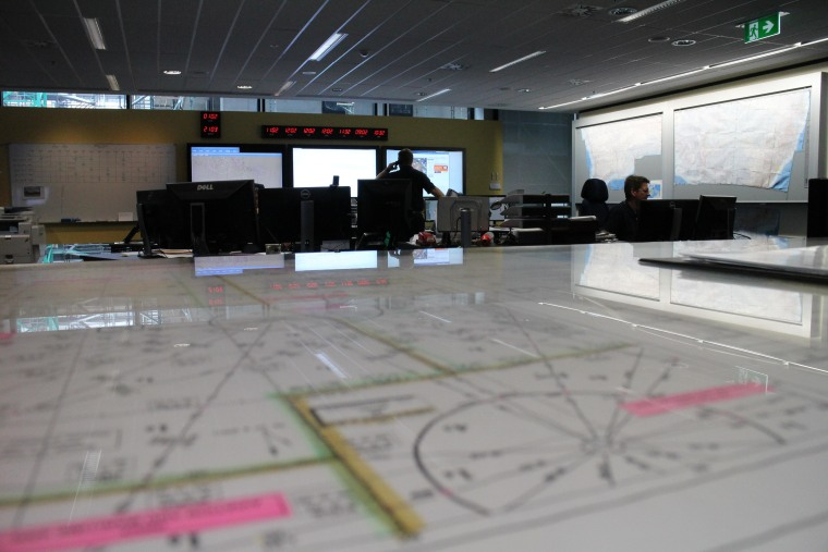 IMAGE: Australian command center for Flight 370 search operations