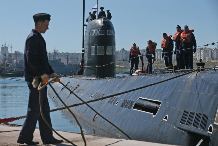 Image: Crisis in Ukraine - Ukrainian submarine surrenders