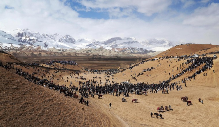 Image: AFGHANISTAN-SPORTS-BUZKASHI