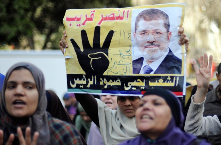 Image: Supporters of Muslim Brotherhood protest in Cairo, Egypt, in February