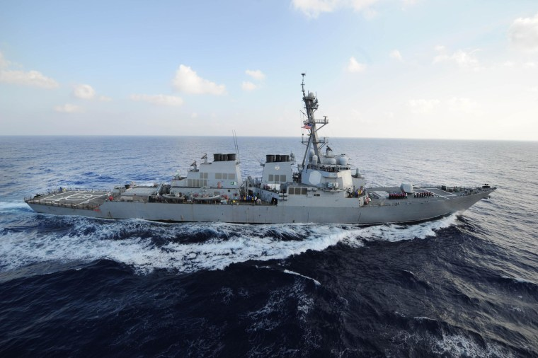 The guided-missile destroyer USS Mahan