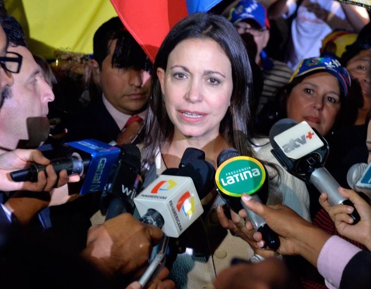 Image: PERU-VENEZUELA-MACHADO