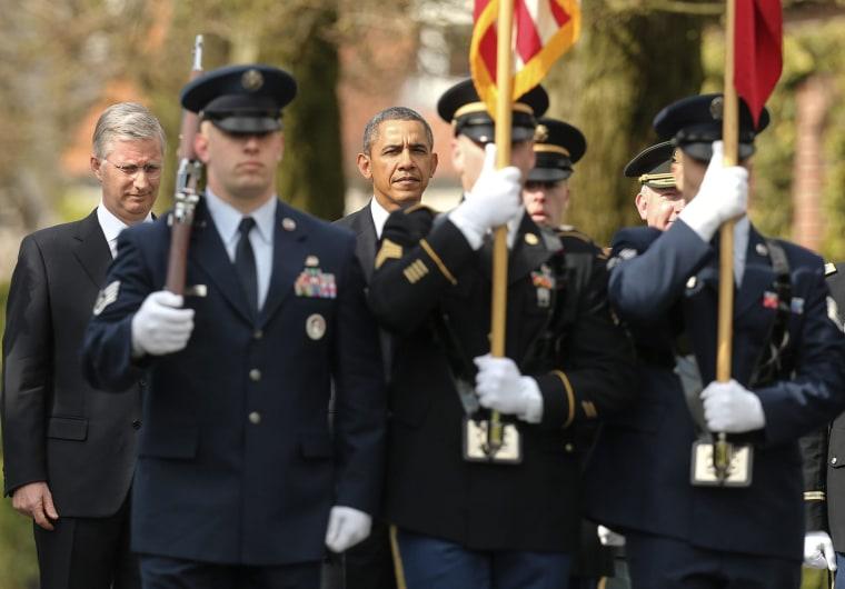 Image: President Obama visits Belgium
