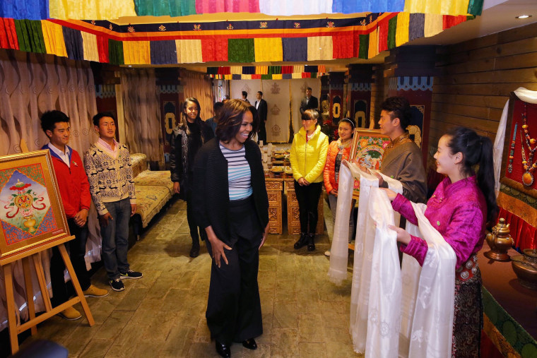 Image: First Lady Michelle Obama Travels to China - Day 7