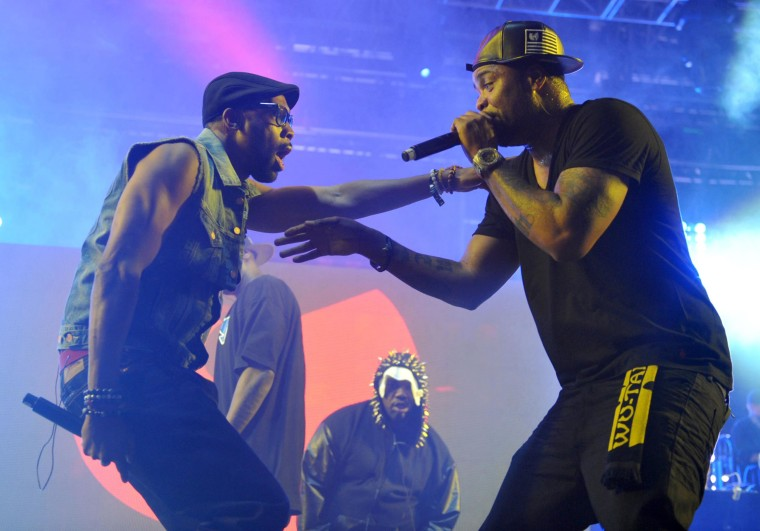 Image: Robert Fitzgerald Diggs, aka Rza, left, and Clifford Smith, aka Method Man, of Wu-Tang Clan perform at the second weekend of the 2013 Coachella Valley Music and Arts Festival