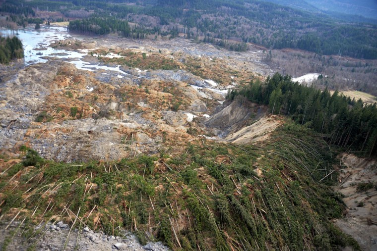 Image:U.S. Geological Survey show the extent and impacts from the March 22 mudslide